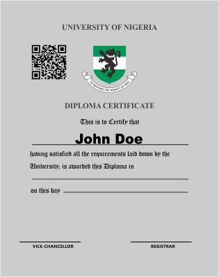 diploma certificate | unn e-learning